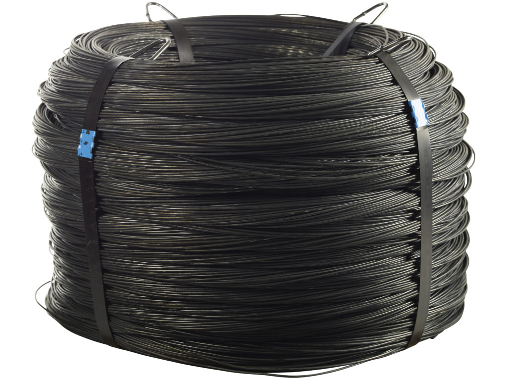 Svartglödgad tråd i coil.