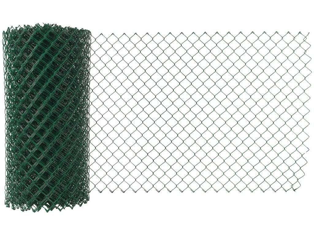 Flätverksstängsel för inhägnad, mörkgrönt.