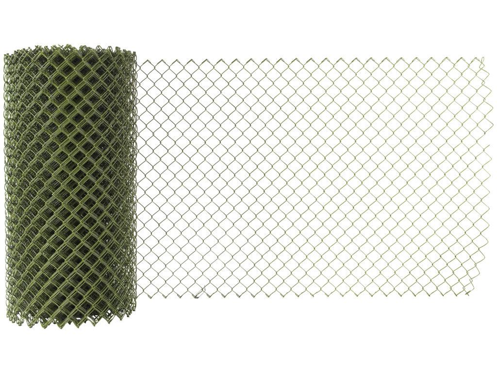 Flätverksstängsel för inhägnad, olivgrönt.