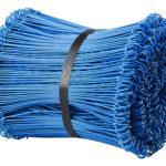 Ögletråd plastbelagd, blå.
