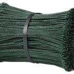 Plastbelagd ögletråd, grön.