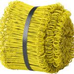 Plastbelagd ögletråd, gul.