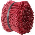 Plastbelagd ögletråd, röd.